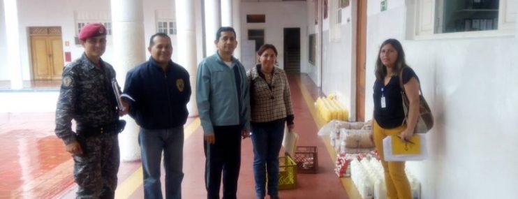 Retenes de Polimérida recibieron alimentos para atendera 275 privados de libertad