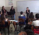Cursantes de DDHH de la ULA Mérida muestran la situación de los privados de libertad a estudiantes de educación media