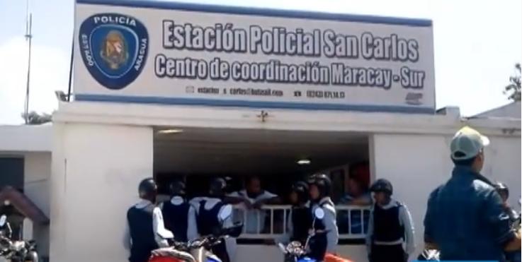 Un motín e intento de fuga en Estación Policial de San Carlos de Maracay