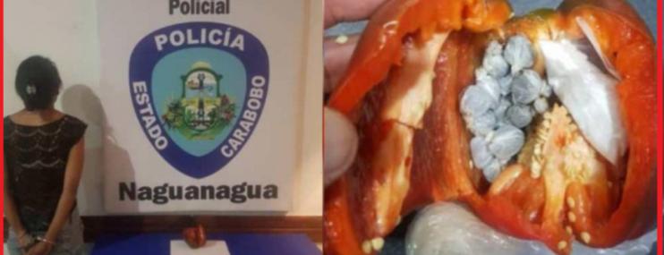 Carabobo: Mujer trató de pasar droga en pimentón