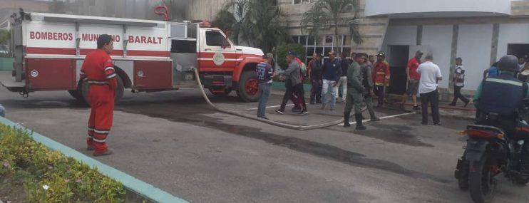 Zulia: Desalojan calabozos de Polibaralt tras incendio de su comando