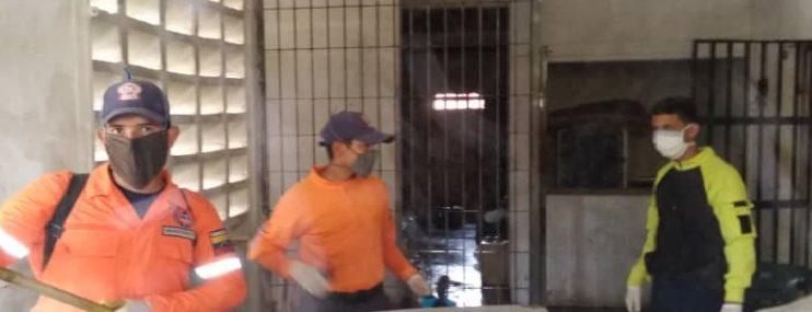 Miranda: Realizan jornada de desinfección en calabozos de la Policía Municipal de Urdaneta en Nueva Cúa
