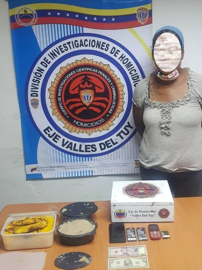 Miranda, Presa mujer que intentó introducir teléfonos a los calabozos del Eje de Homicidios Valles del Tuy