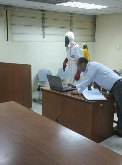 Lara: Realizan desinfección a la subdelegación Barquisimeto del Cicpc