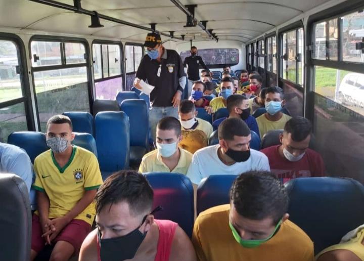 Trasladaron a cárcel de Ciudad Bolívar a más de 30 penados en los calabozos del Cicpc