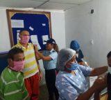 Ejecutan jornada de vacunación en la Comandancia General de Polifalcón