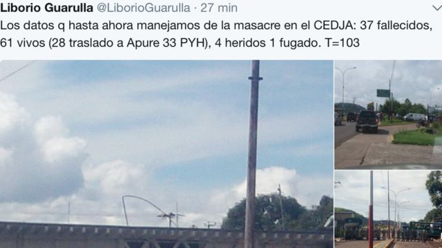 Venezuela: 37 muertos por la incursión de fuerzas especiales en un centro de detención judicial en el estado Amazonas