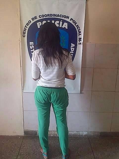 Mujer fue detenida tras intentar ingresar droga al CDP de PoliApure en San Fernando.