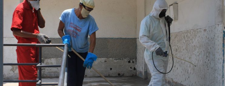 Desinfectan sede y calabozos de la Delegación del Cicpc en Guarenas