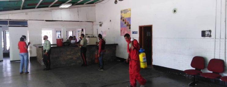 Comando y calabozos de Poliplaza fueron desinfectados
