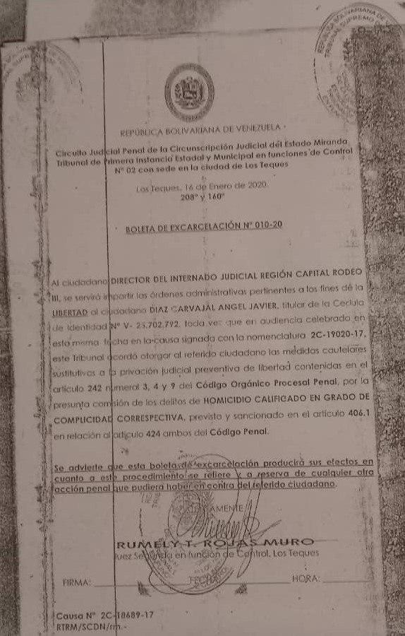 Abogado pide liberación de recluso del Rodeo con boleta de excarcelación desde enero 2020