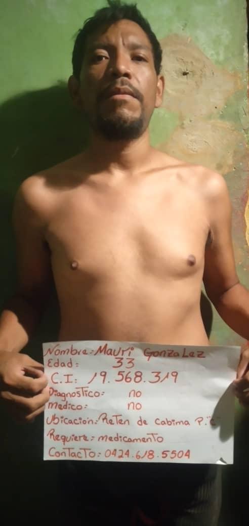 Zulia: Enfermos del retén de Cabimas claman por medicinas y atención médica